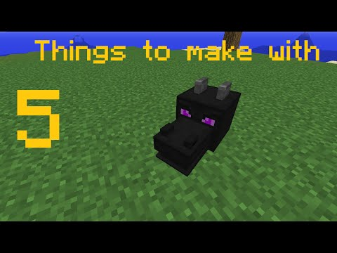 ✔ Minecraft: 5 THINGS TO MAKE WITH DRAGON HEADS