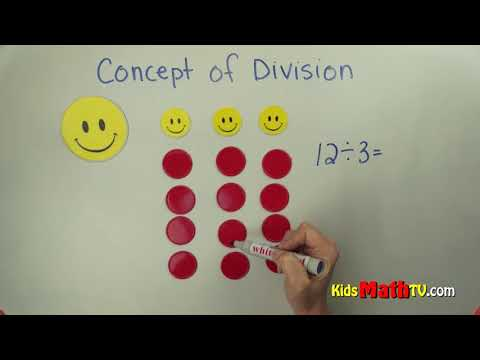 The basic concept of division simplified, math video tutorial