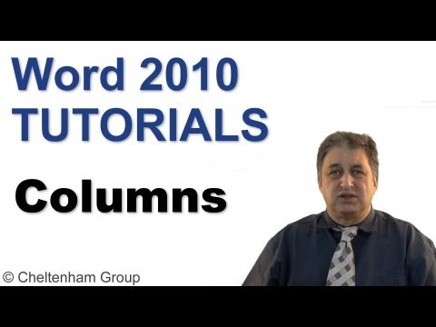 Word 2010 Tutorial | Using Columns | Full Training Course