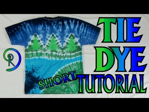 How to Tie Dye a Nature Scene [Short commentary]