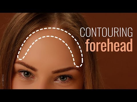Contouring a prominent forehead