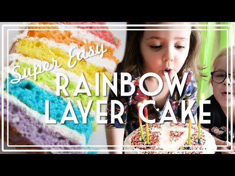 Rainbow Layer Birthday Cake