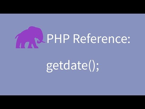 PHP Reference: Get date information with getdate();