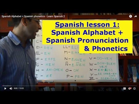 Spanish Alphabet + Spanish Pronunciation LEARN SPANISH 1