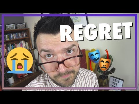 Regret - turn it on its head and do something positive!