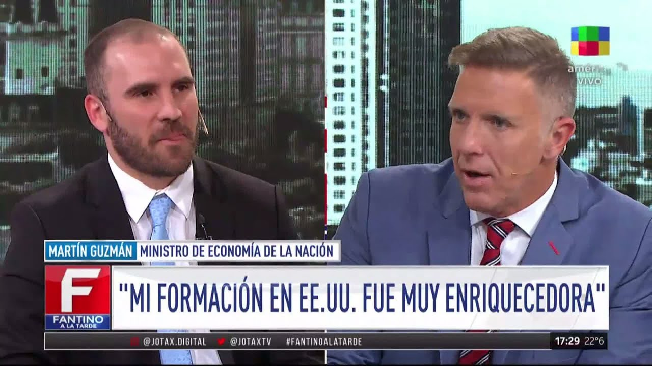 Martín Guzmán mano a mano con Alejandro Fantino