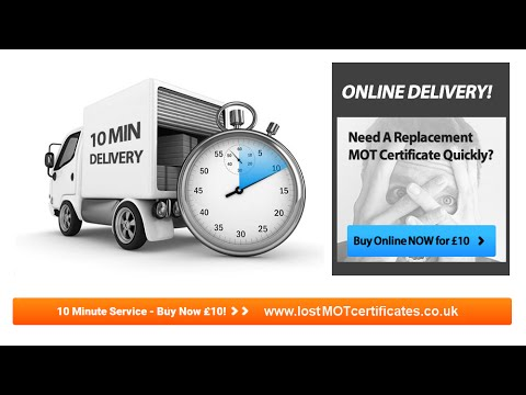 How To Replace a Lost MOT Certificate - Online Video