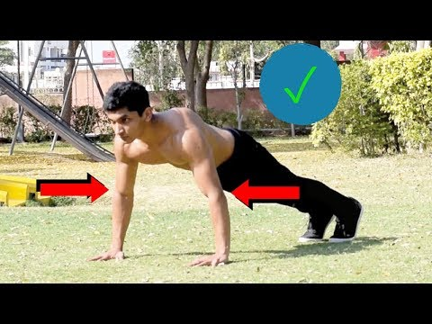 How to do a Push-up Correctly in Hindi - All Push-up Mistakes