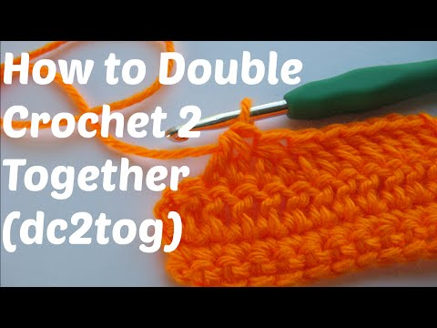 How to Double Crochet 2 Together (DC2TOG)