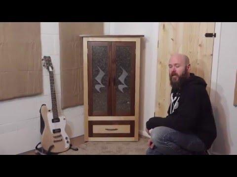 Laser Tutorial: Corner Cabinet w/Etched Glass Doors   Make Something