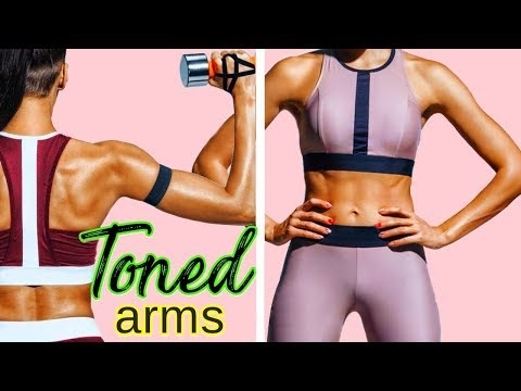GET TONED ARMS 10 MINUTES | Weighted Arms Workout for Women- Upper Body, Triceps (VERY Effective)