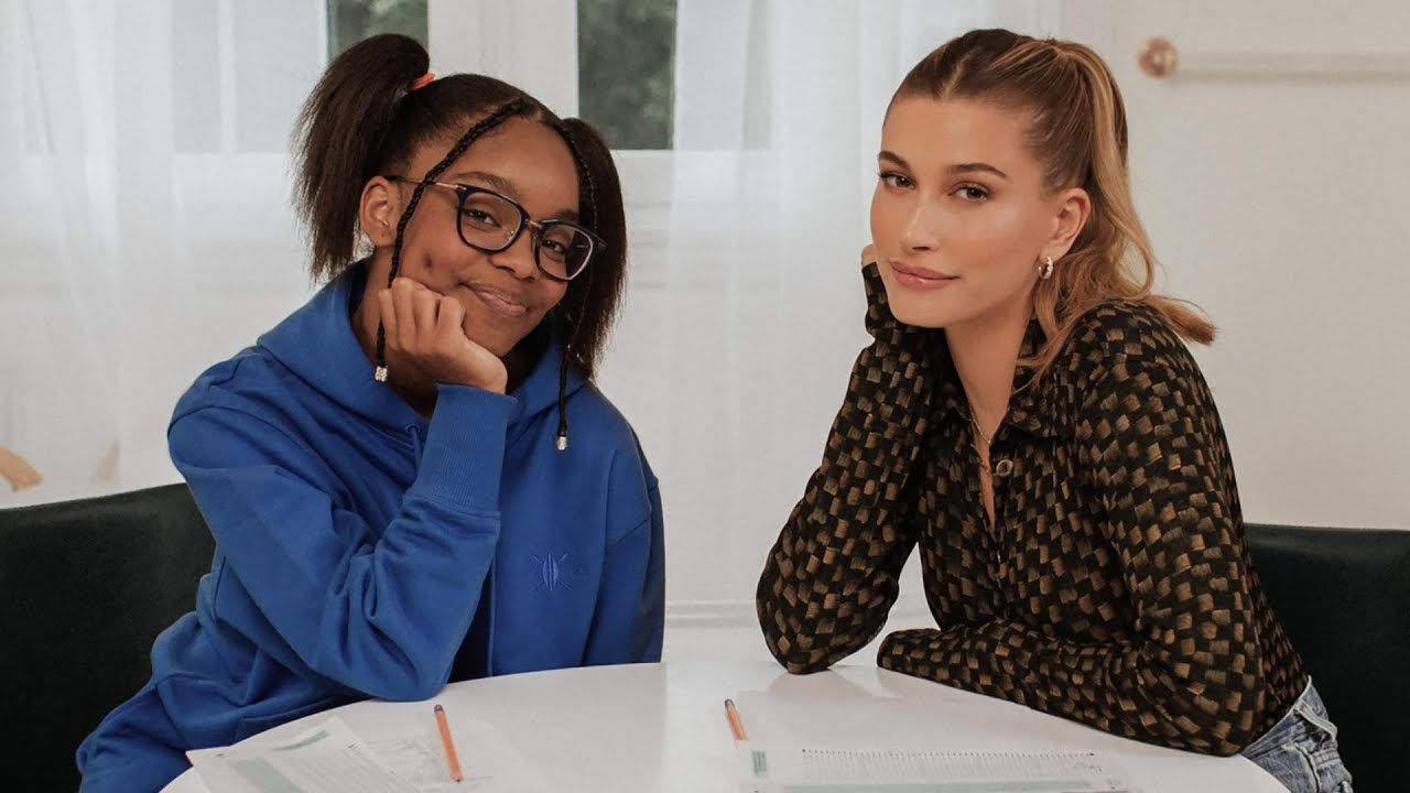 Marsai Martin & Hailey Bieber decorate cupcakes & practice for the SATs   WHO'S IN MY BATHROOM?