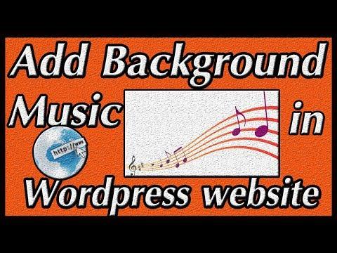 how to add background music in wordpress website [ hindi / urdu ]