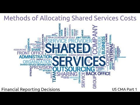 Methods of Allocating Shared Services Costs | Financial Reporting Decisions| US CMA Part 1