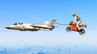 FLYING BIKES vs. JETS! (GTA 5 Funny Moments)