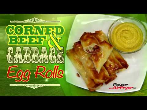 Power AirFryer XL Corned Beef and Cabbage Eggrolls