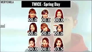 توايس twice يغنون اغنية BTS spring day