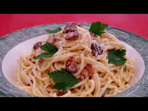Spaghetti alla Carbonara: Recipe: Pasta Carbonara: How To: Diane Kometa - Dishin With Di  # 155