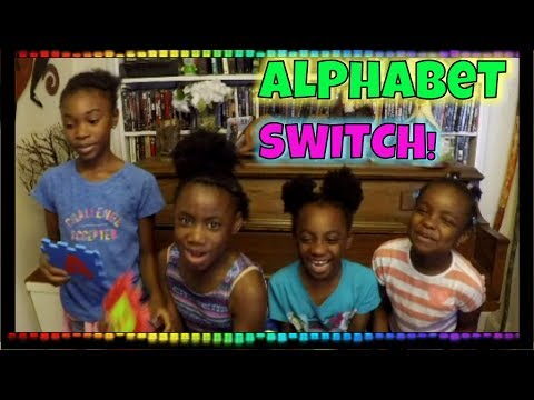LEARN Alphabetical Order with the ALPHABET SWITCH GAME! (FUN GAME FOR KIDS)