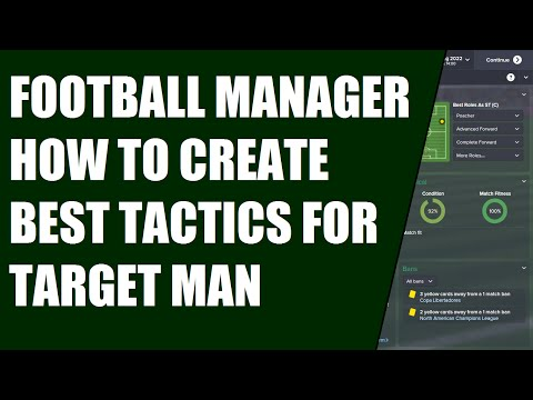 FOOTBALL MANAGER HOW TO CREATE BEST TACTICS FOR TARGET MAN