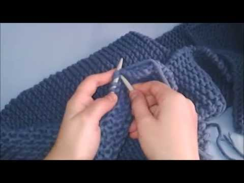 How to Knit a Scarf for Beginners in 30 MIN Step By Step,  Very Easy Scarf Tutorial