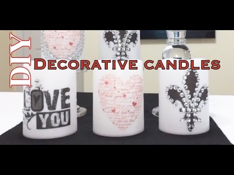 How To Make Decorative Candles|Easiest Method Ever!