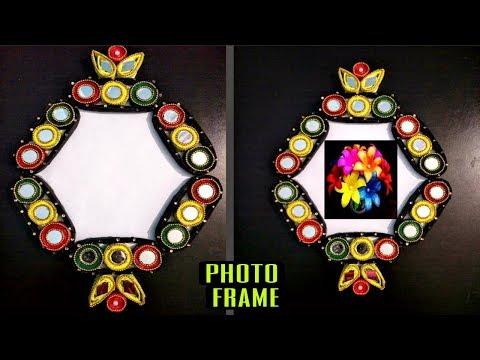 Newspaper Showpiece Photo Frame-DIY Craft Idea-Best out of Waste
