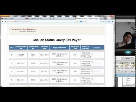 8 (TDS ) How to view and Download  Challan Status Inquiry file (Hindi)