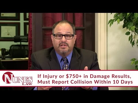 You Always Need To Report Your Vehicle Collision to the DMV | CA Personal Injury Lawyer Frank Nunes