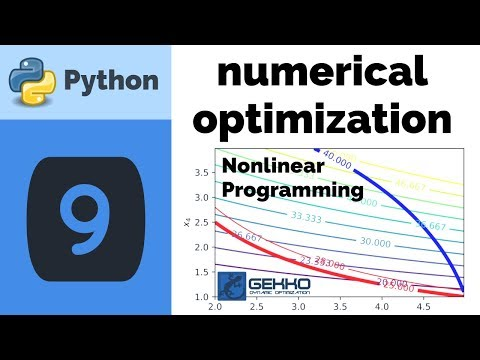 Numerical Optimization with Python GEKKO