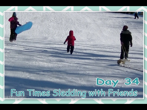 Fun Times Sledding with Friends - Daily Vlogging (Feb 3, 2017)