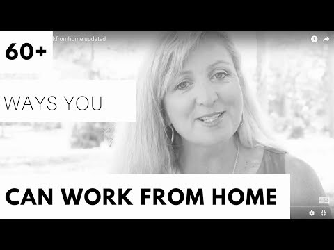 Over 60 Ways You Can Work From HOME!!!
