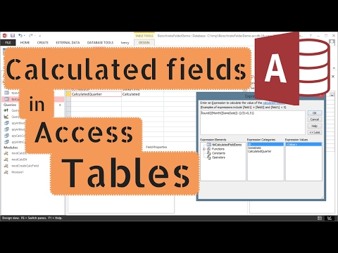 Create a calculated field in an Access Table