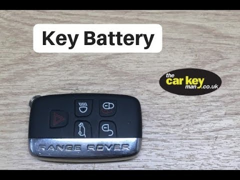 Range Rover Evoque Key Battery Change HOW TO