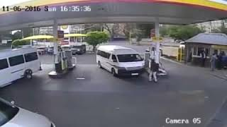 Lucky escape for the Taxi driver