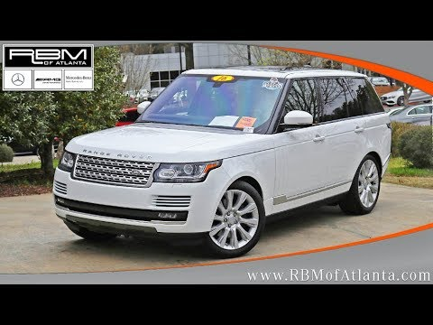 Used 2016 Land Rover Range Rover Supercharged ATLANTA, GA M32887A