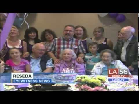 Hannah Licht's 108th Birhday Celebration - KABC News