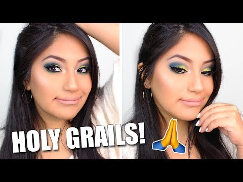 FULL FACE OF HOLY GRAIL PRODUCTS!! | DRUGSTORE & LUXURY!