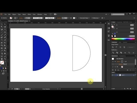 How to Draw a Half Circle in Adobe Illustrator