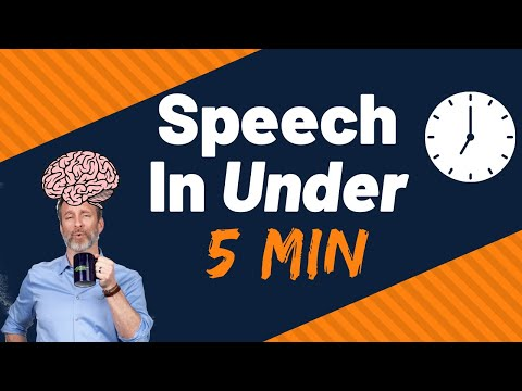 How To Memorize Any Speech In 5 Minutes