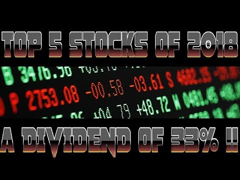 Top 5 Stocks With a High Dividend Yield - 2018