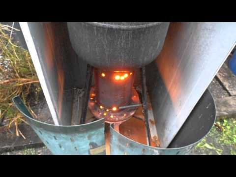 Drip fed waste oil heating free