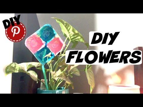 DIY Flowers - Egg Cartons - For Kids