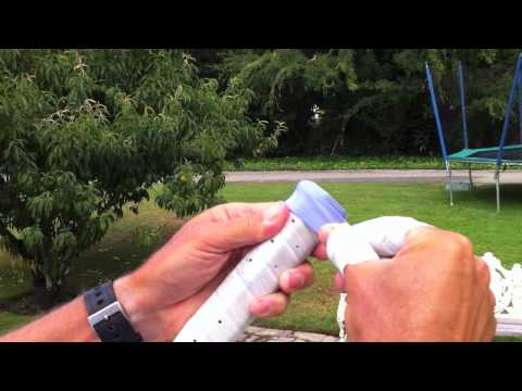 How to regrip a racket