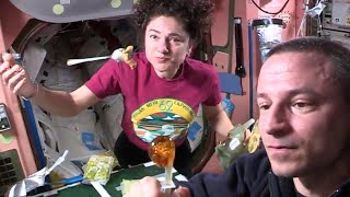 'Space makes eating a lot more fun!' Astronauts explain food prep