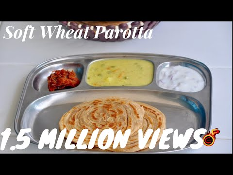 Soft Wheat Parotta/ Gothambu Parotta/Wheat Lachaa Paratha/Layered Paratha -Recipe no 158