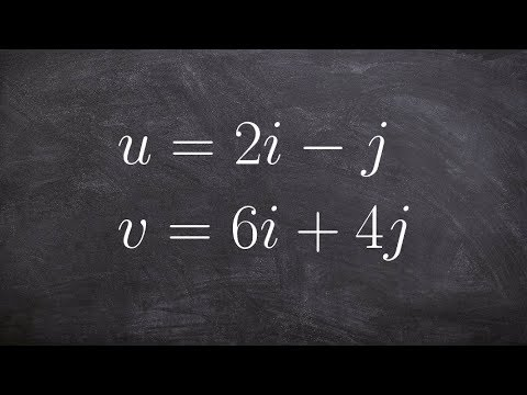 Learn how to find the angle between two vectors