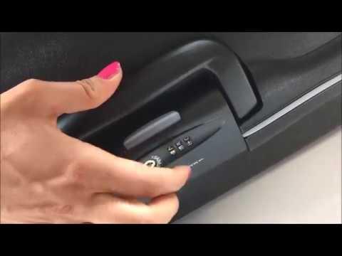 How to unlock and set Roncato luggage - Hardcase lock