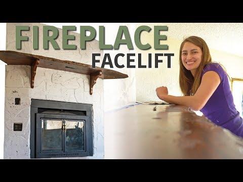Whitewashing A Fireplace - Katie Updates an Eyesore
