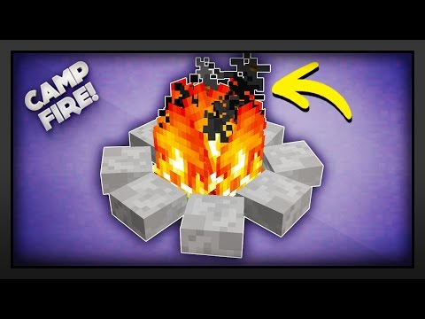 Minecraft - How To Make A Campfire